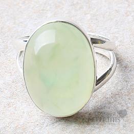 Prehnit prsten stříbro Ag 925 R698