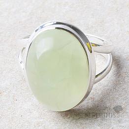 Prehnit prsten stříbro Ag 925 R699