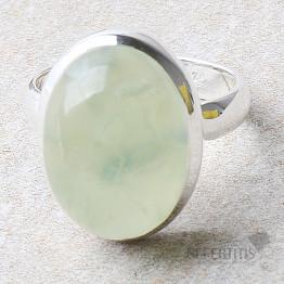 Prehnit prsten stříbro Ag 925 R725