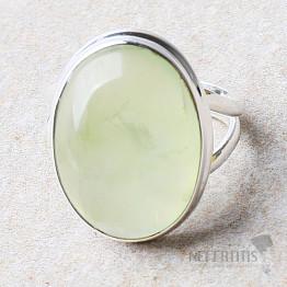 Prehnit prsten stříbro Ag 925 R730