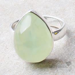 Prehnit prsten stříbro Ag 925 R733