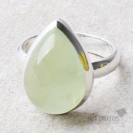 Prehnit prsten stříbro Ag 925 R734