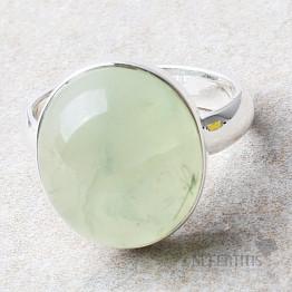 Prehnit prsten stříbro Ag 925 R736