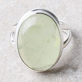 Prehnit prsten stříbro Ag 925 R738
