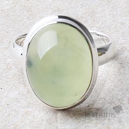 Prehnit prsten stříbro Ag 925 R745