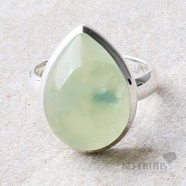 Prehnit prsten stříbro Ag 925 R746