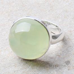 Prehnit prsten stříbro Ag 925 R751