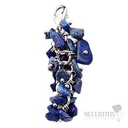 Lapis lazuli hrozen přívěsek s bižuterním úchytem