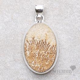 Psilomelan dendritický přívěsek stříbro Ag 925 P465