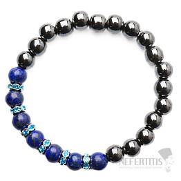 Hematit a Lapis lazuli korálkový náramek RB Design 9