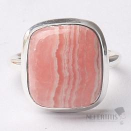 Rodochrozit prsten stříbro Ag 925 R1109