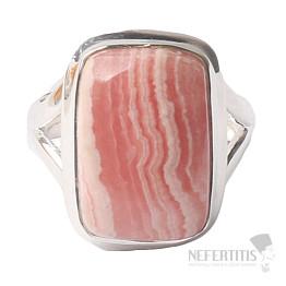 Rodochrozit prsten stříbro Ag 925 R1143