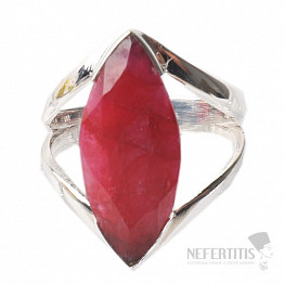 Rubín indický prsten stříbro Ag 925 R100