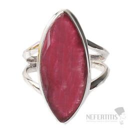 Rubín indický prsten stříbro Ag 925 R409