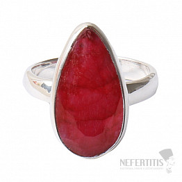 Rubín indický prsten stříbro Ag 925 R440