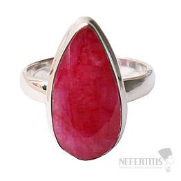 Rubín indický prsten stříbro Ag 925 R456