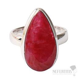 Rubín indický prsten stříbro Ag 925 R462