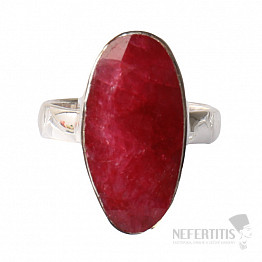 Rubín indický prsten stříbro Ag 925 R463