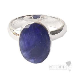 Safír prsten stříbro Ag 925 R1306