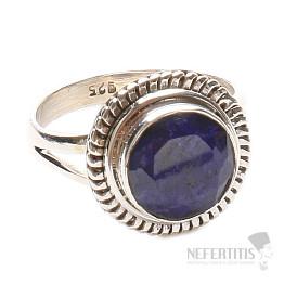 Safír indický prsten zdobený stříbro Ag 925 LU 1104