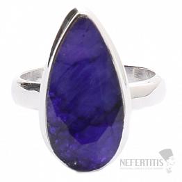 Safír indický prsten stříbro Ag 925 R1273