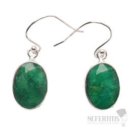 Smaragd indický náušnice stříbro Ag 925 E814