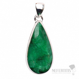 Smaragd indický přívěsek stříbro Ag 925 P1635