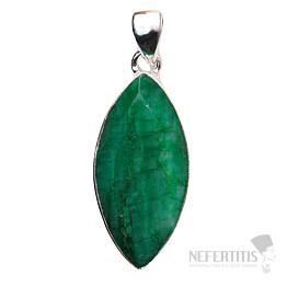 Smaragd indický přívěsek stříbro Ag 925 P1636
