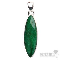 Smaragd indický přívěsek stříbro Ag 925 P1637