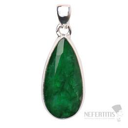 Smaragd indický přívěsek stříbro Ag 925 P1639