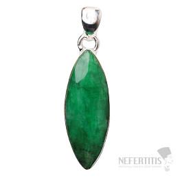 Smaragd indický přívěsek stříbro Ag 925 P1641