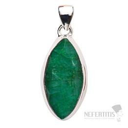 Smaragd indický přívěsek stříbro Ag 925 P1643