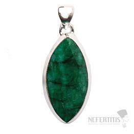 Smaragd indický přívěsek stříbro Ag 925 P1644