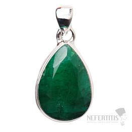 Smaragd indický přívěsek stříbro Ag 925 P1645