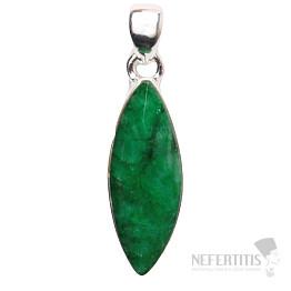 Smaragd indický přívěsek stříbro Ag 925 P1646