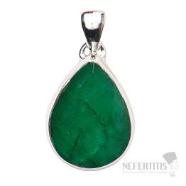 Smaragd indický přívěsek stříbro Ag 925 P1647