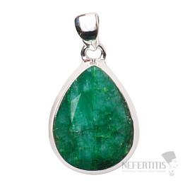 Smaragd indický přívěsek stříbro Ag 925 P1648