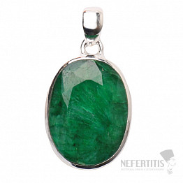 Smaragd indický přívěsek stříbro Ag 925 P1652