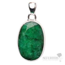 Smaragd indický přívěsek stříbro Ag 925 P1656