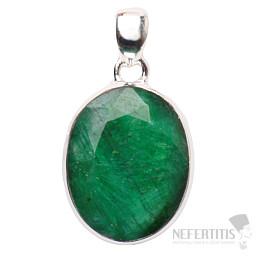 Smaragd indický přívěsek stříbro Ag 925 P1657