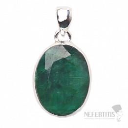 Smaragd indický přívěsek stříbro Ag 925 P1658