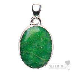 Smaragd indický přívěsek stříbro Ag 925 P1659