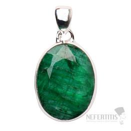 Smaragd indický přívěsek stříbro Ag 925 P1660