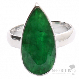 Smaragd indický prsten stříbro Ag 925 R1691