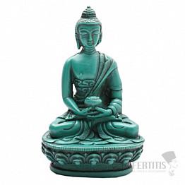 Buddha s vázou Amrity zelená soška