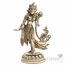 Feng Shui soška tančící bohyně Zelená Tárá mosaz