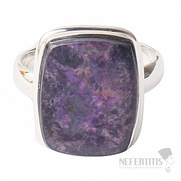 Sugilit prsten stříbro Ag 925 R56