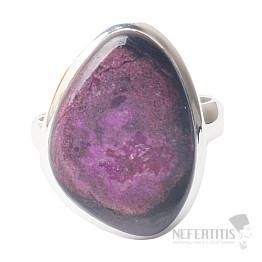 Sugilit prsten stříbro Ag 925 R70