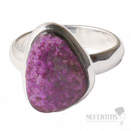 Sugilit prsten stříbro Ag 925 R16