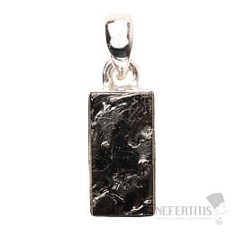 Šungit přívěsek stříbro Ag 925 P880